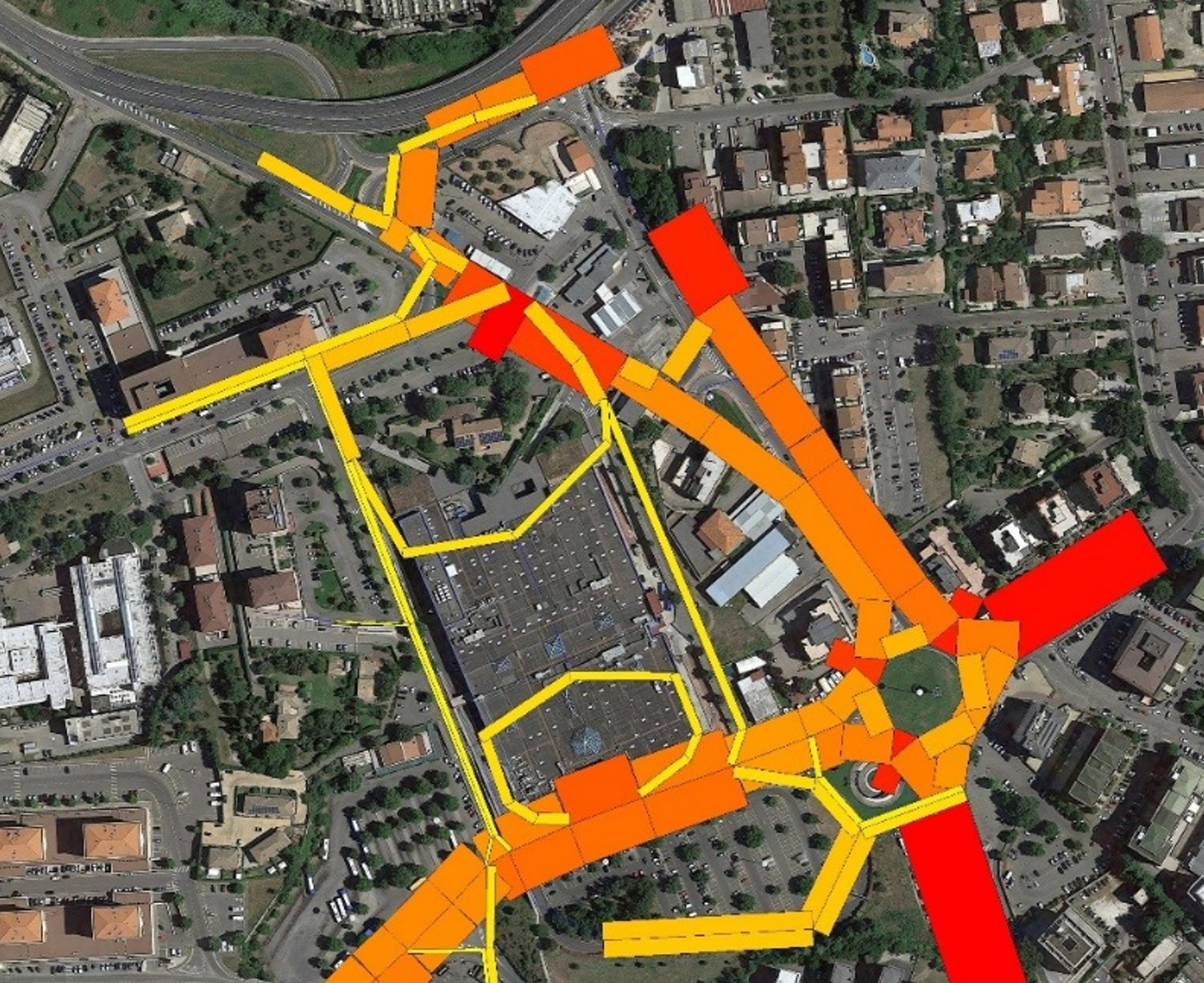 Systematica_Tuscia Shopping Centre_Traffic Flow Chart