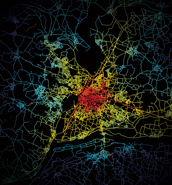 Systematica-Angers-Private Transport Isochrones Map