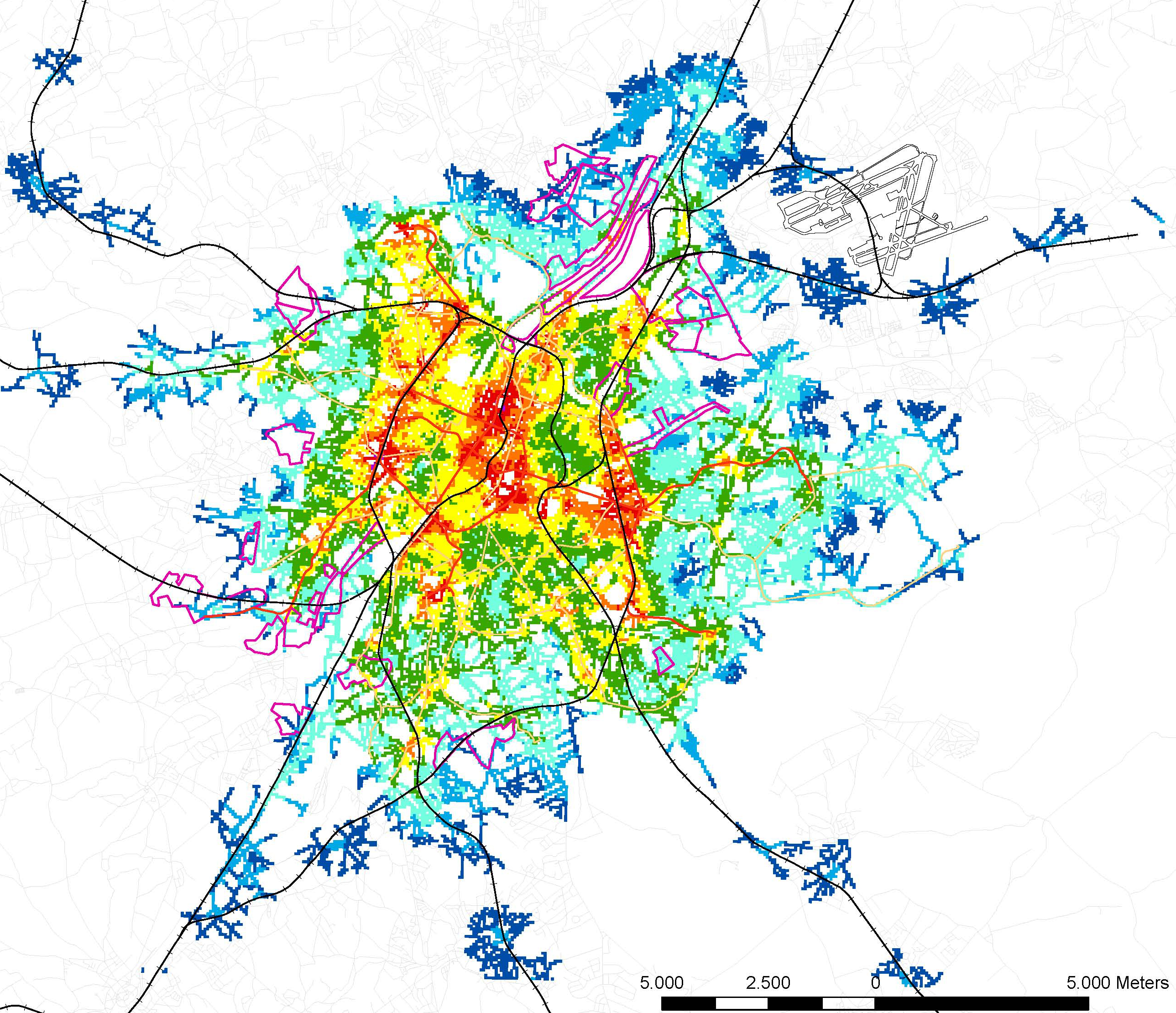 Systematica-Brussels 2040-Public Transport Accessibility Level
