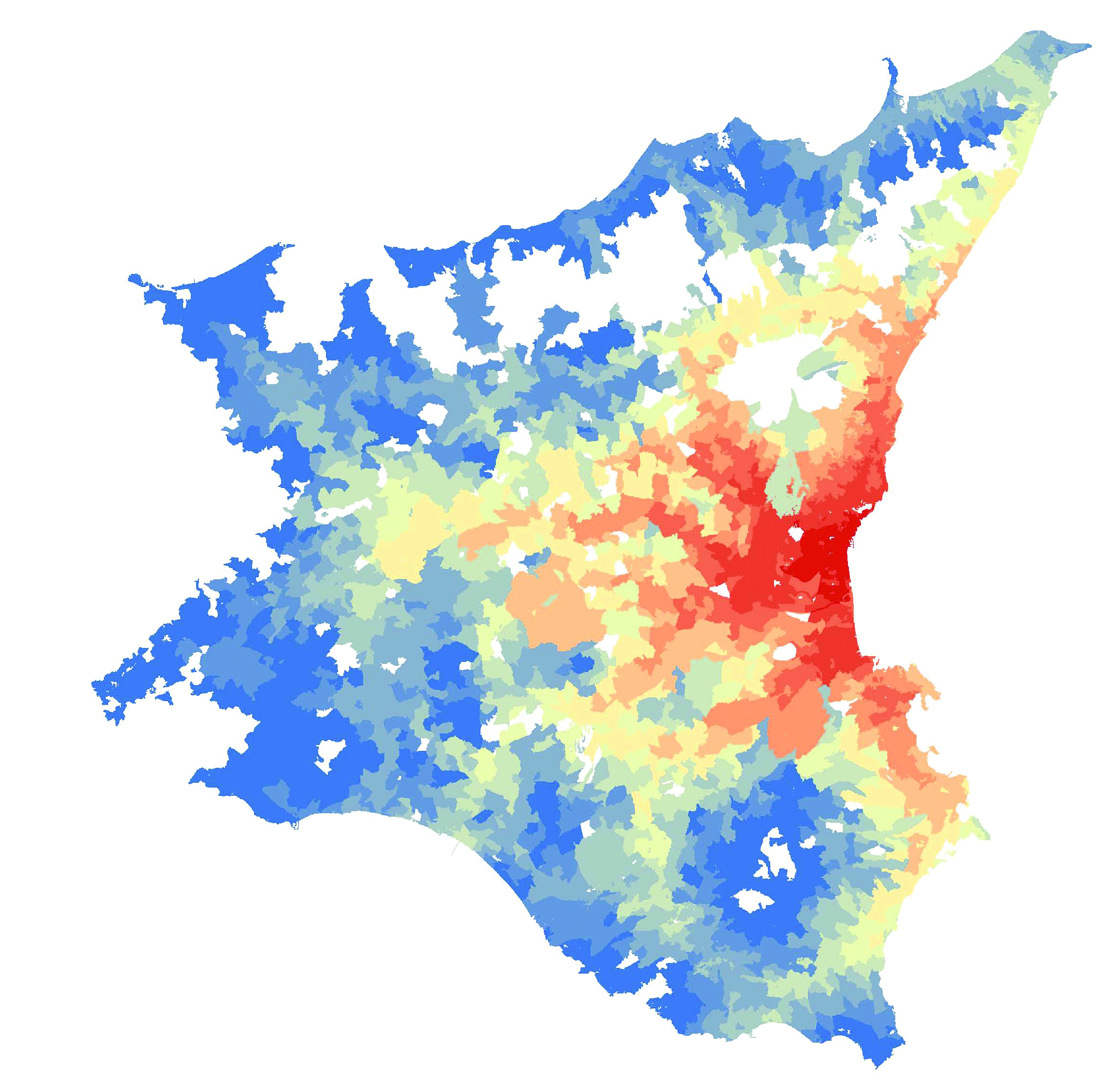 Systematica-Catania Airport- Wide Area Analysis – Isochrone Map
