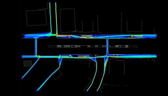 Systematica-Chakala Metro-Pedestrian-Street Level