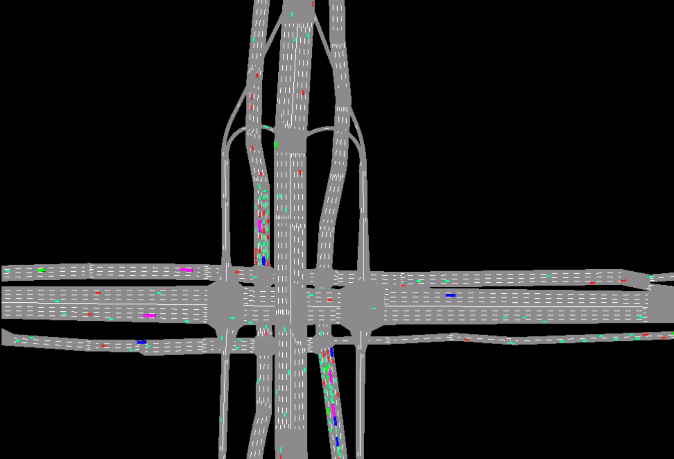 Systematica-Guomao Junction-Vehicular Traffic Simulation of Current Situation