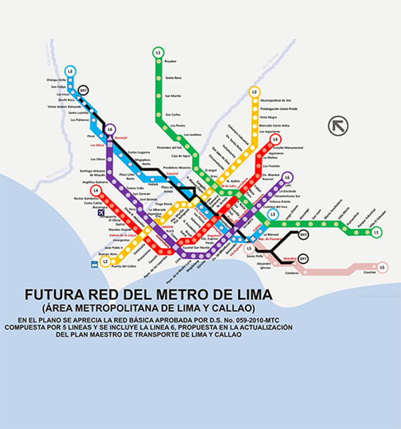 Project Management Subway Map.Lima Line 2 Metro Stations Systematica