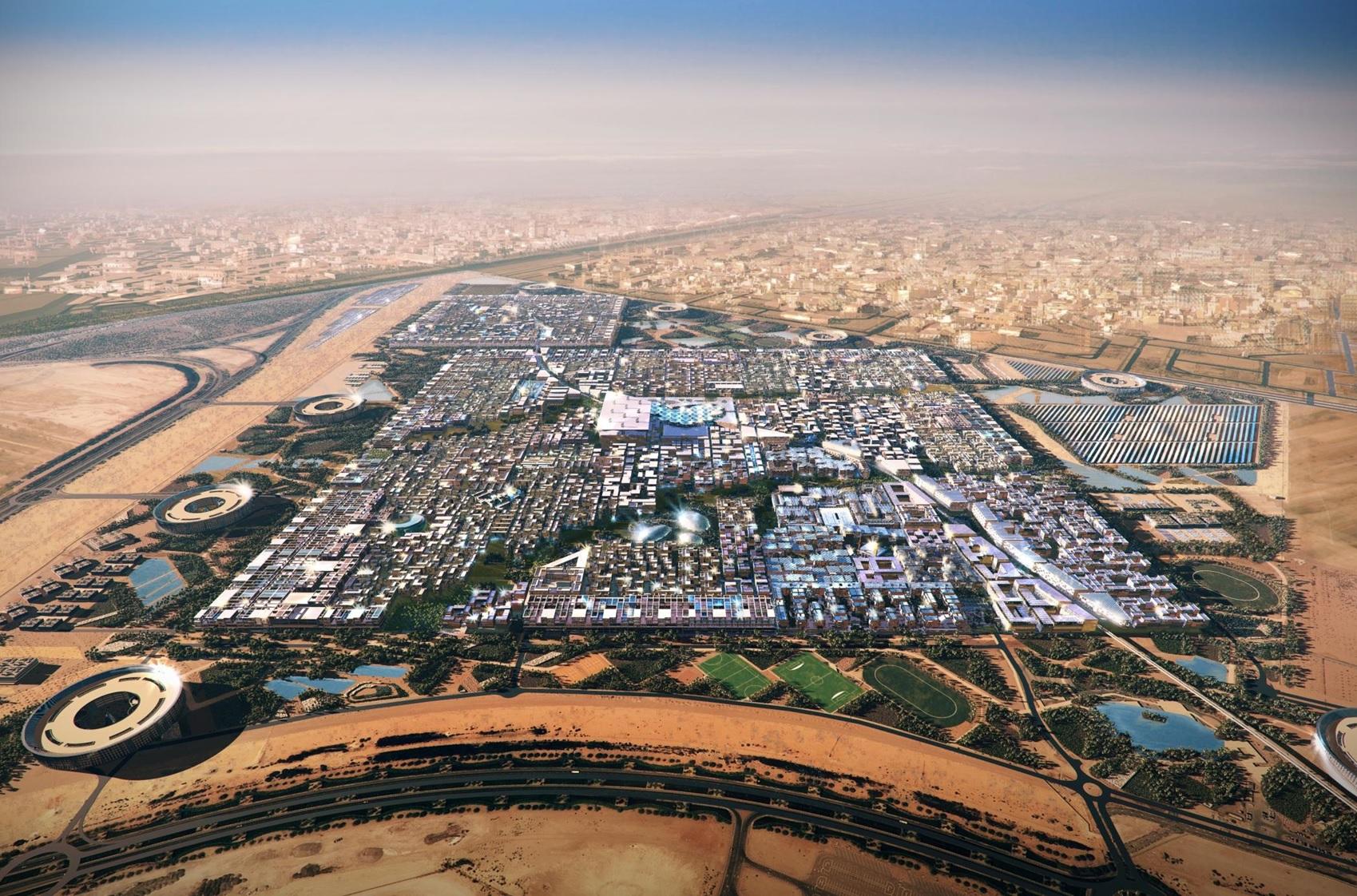 Systematica-Masdar City_Aerial Render View
