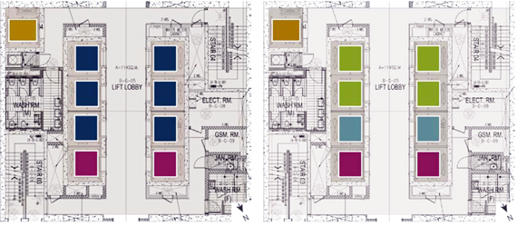 Systematica-Olaya Towers-Elevator System Analysis – Lobby Plans