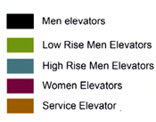 Systematica-Olaya Towers-Elevator System Analysis – Sections-Legend