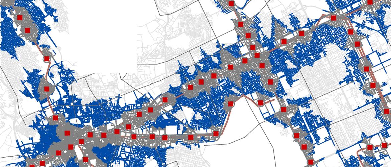 Systematica-Riyadh Foot Bridge-5min Isochronal Map