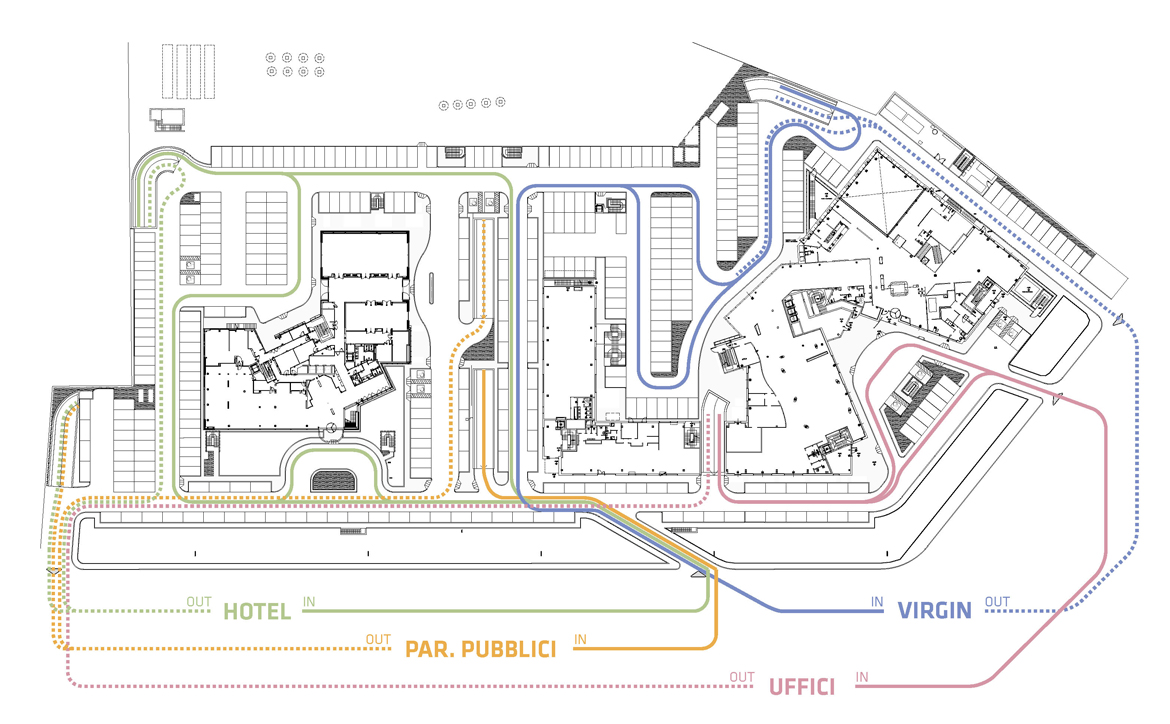 Systematica-Verona Forum Development-Parking Circulation