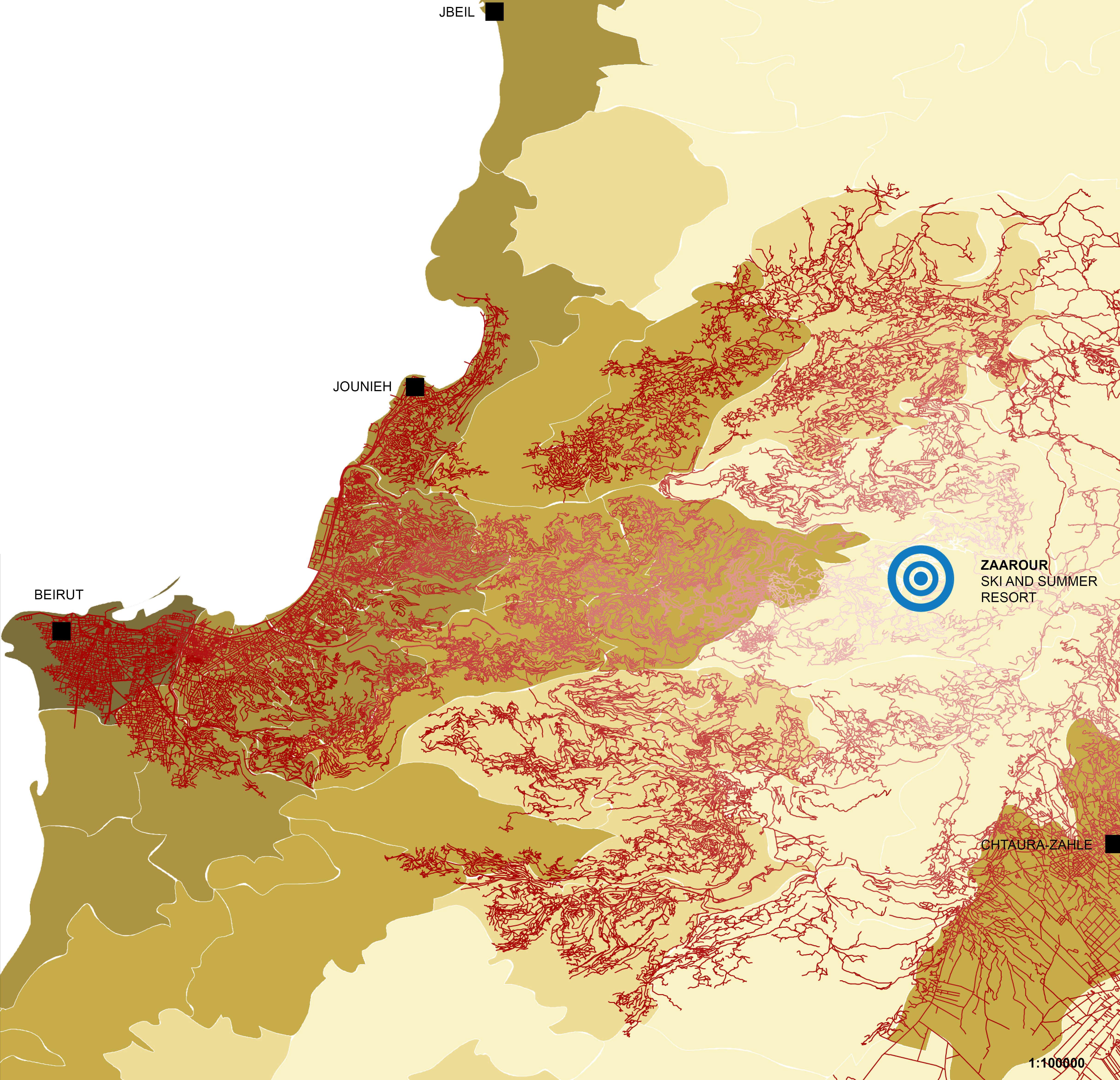 Systematica-Zaarour Resort-Isochrone Map