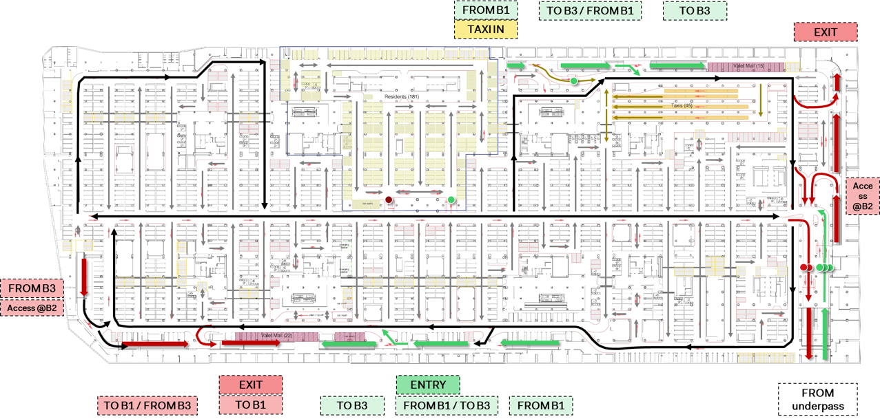 Systematica_Mashhad-Mall_Parking-Internal-Circulation-Diagram