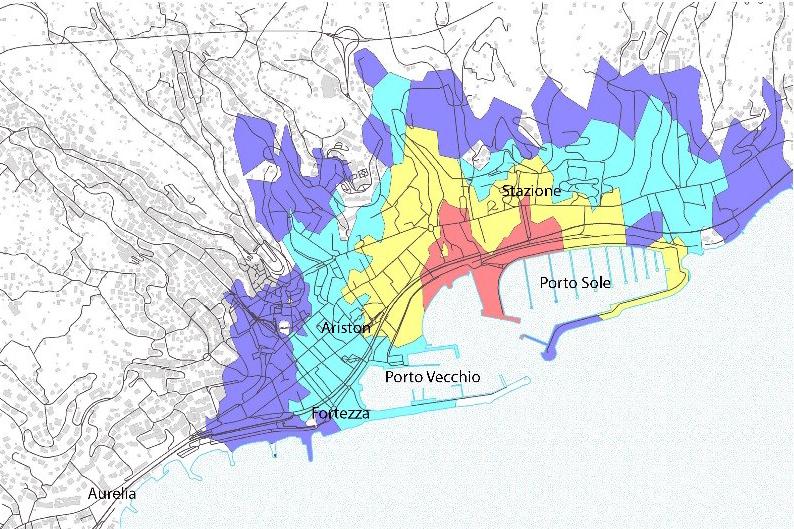 Systematica_Sanremo-Port_Pedestrian-Isochrone-Map