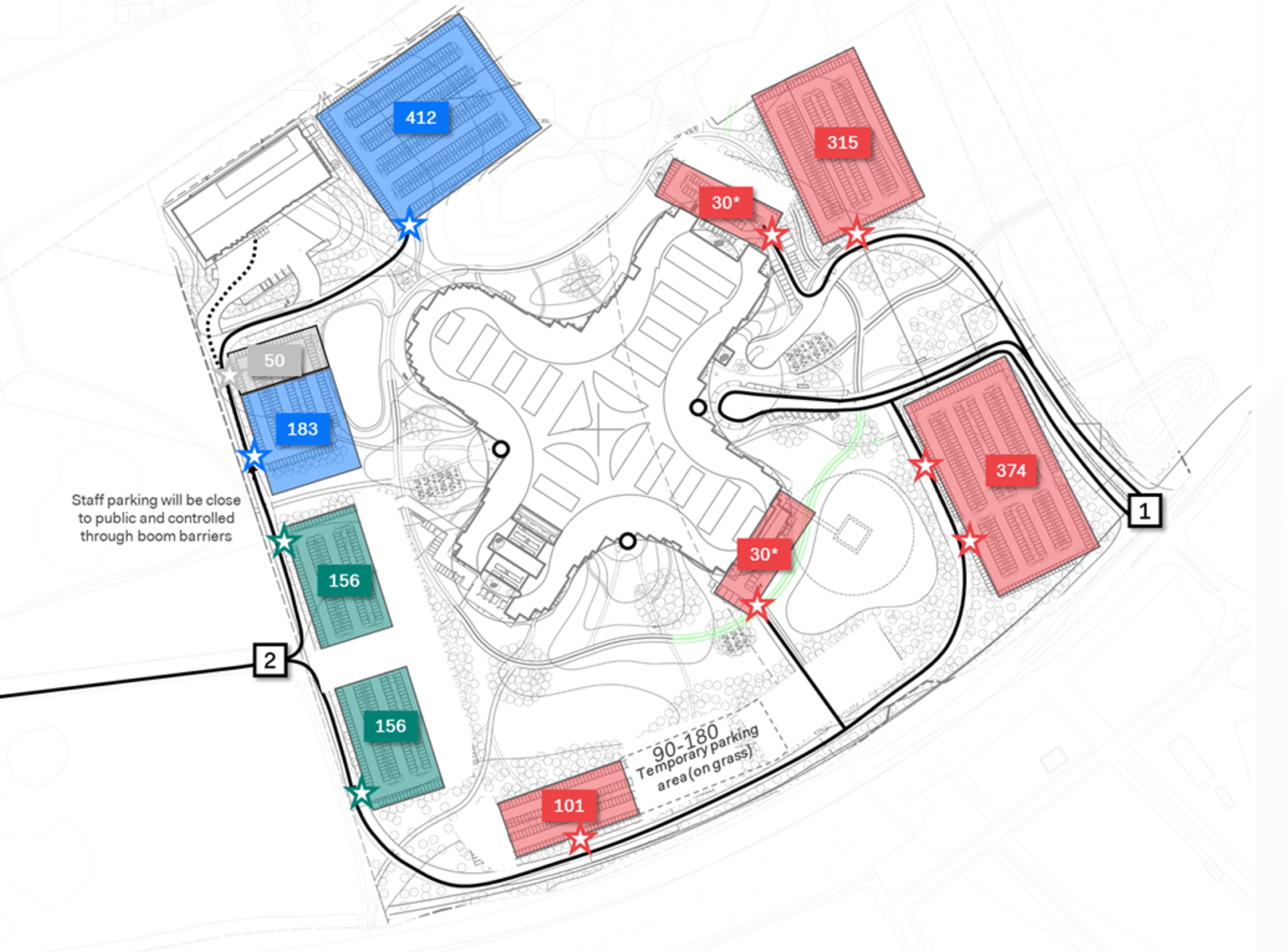 Systematica_Zealand Hospital_Parking Distribution